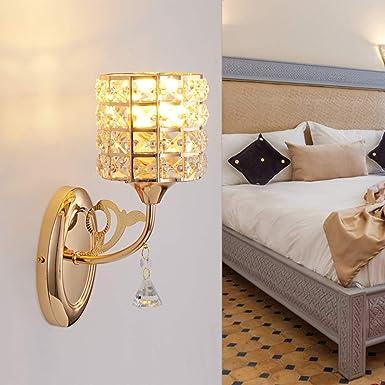 Amazon.com: Lámpara de pared con iluminación para dormitorio ...