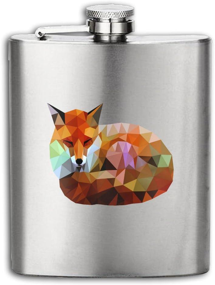 Moments de détente Fox en acier inoxydable 304Flasque Pot de vin Bouteille de whisky pour tourisme, camping 7oz cendre