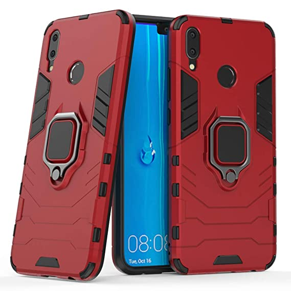 new concept 26144 09f28 Huawei Y9 2019 Case, Ranyi 2 in 1 Ring Armor Design [360 Degree Rotation  Ring Holder] [Kickstand Feature] Shock Absorbing Dual Layer Protective ...