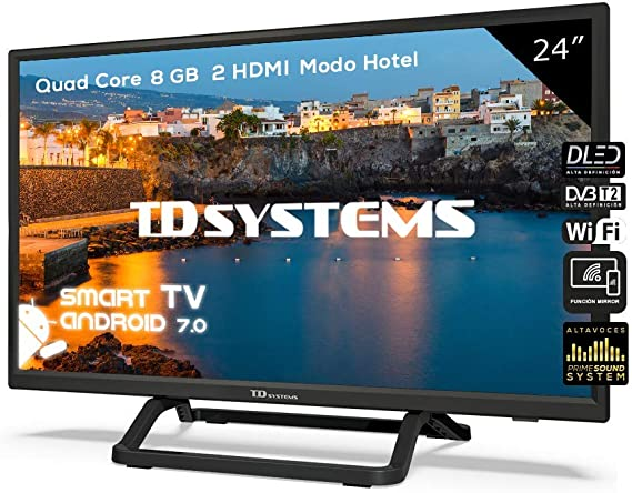 Televisor Led 24 Pulgadas HD Smart con Hbbtv, TD Systems K24DLX9HS. Resolución 1366 x 768, 2X HDMI, 2X USB, Smart TV.: Amazon.es: Electrónica