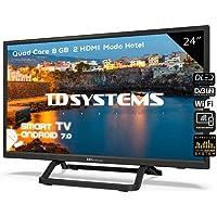 Televisor Led 24 Pulgadas HD Smart con Hbbtv, TD Systems K24DLX9HS. Resolución 1366 x 768, 2X HDMI, 2X USB, Smart TV.
