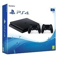 Sony Computer Entertainment Sony PlayStation 4 Slim (1 To) + 2 DualShock - Console de jeux-vidéo nouvelle génération avec disque dur 1 To et 2 manettes sans fil