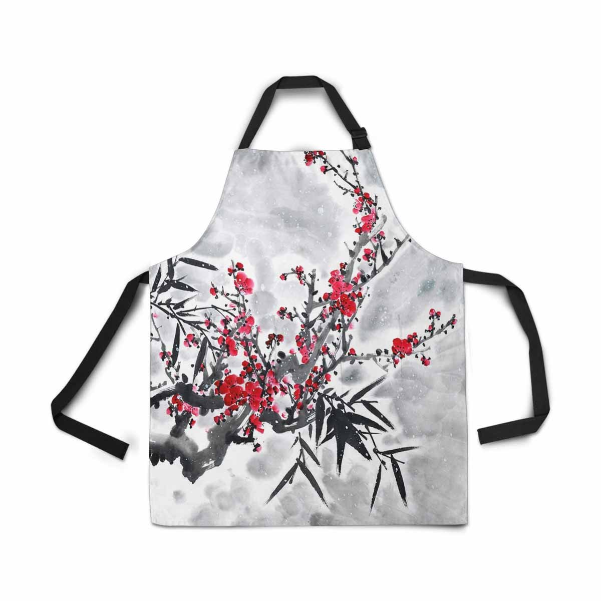 Cartoon Funny Penguin Bird Four Seasons Icons Novelty Kitchen Apron for Cooking Baking Gardening Pet Grooming Cleaning InterestPrint Adjustable Bib Apron for Women Men Girls Chef with Pockets