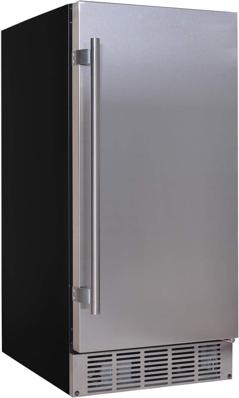 EdgeStar IB250SS 15 Inch Wide 20 Lb. Built-In Ice Maker