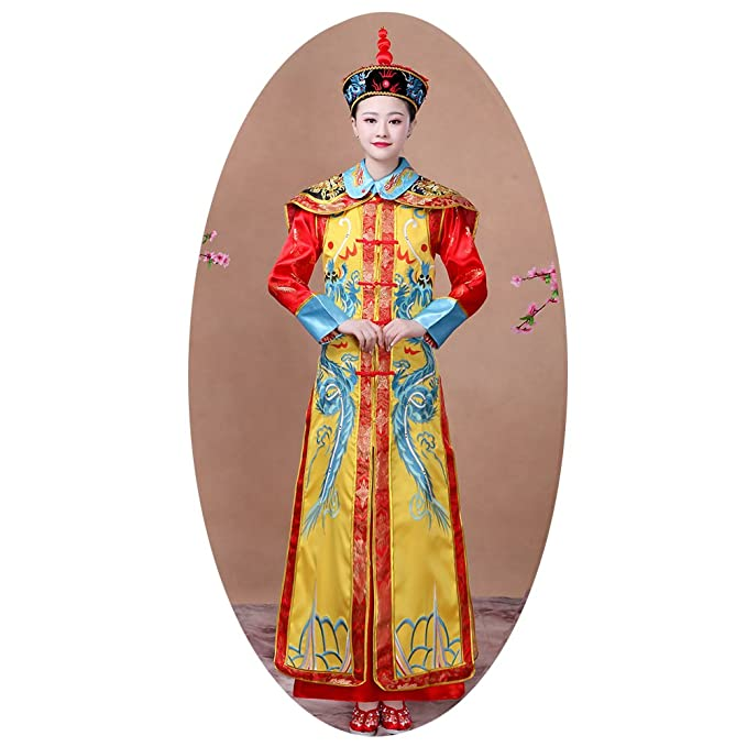 9ce577439 Amazon.com: The Qing Dynasty Costume/Queen's dress/Ancient Chinese  Cosplay/Emperors Clothing/New Year's dress/Halloween Costume/Campus Party  Dress/Bridal ...