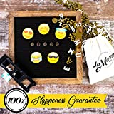 Letter Board - New 2018 Big Emojis - Changeable Message Board Letters - Decorative Black Felt Letter Board with Stand - Inspirational Custom Vintage Message Board