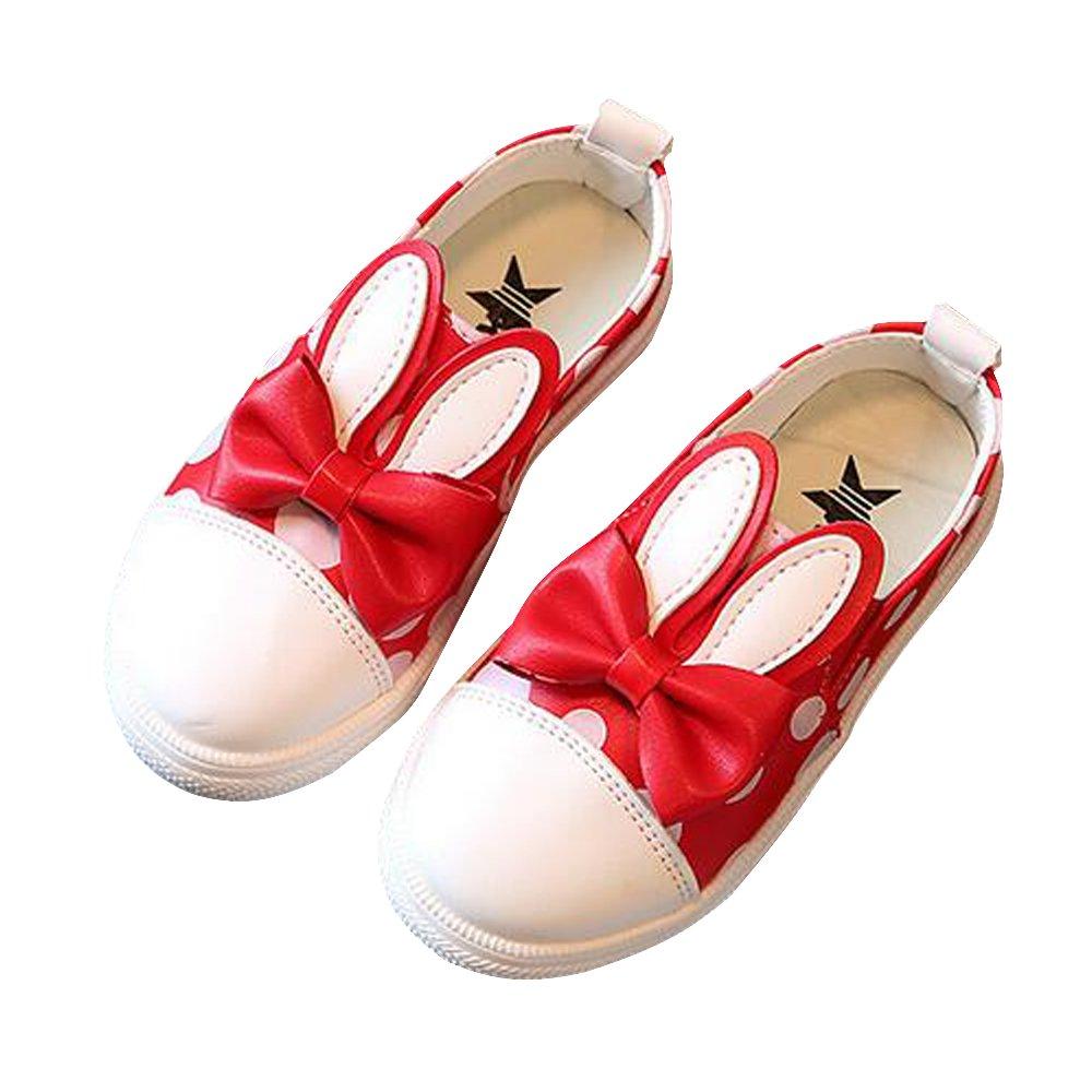 BININBOX Girls Bowknot Rabbit Ears Loafers Casual Sneakers Shoes Kids