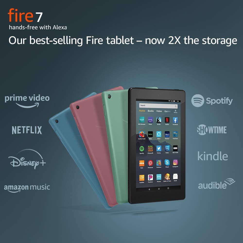 "Fire 7 Tablet (7"" display, 16 GB) - Black + Kindle Unlimited (with auto-renewal)"