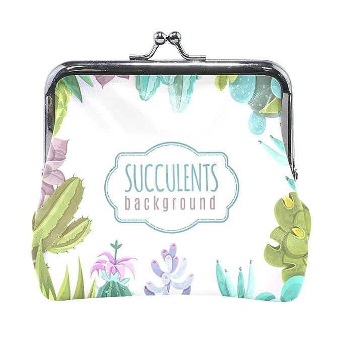 Amazon.com: Watercolor - Monedero de piel con diseño de ...
