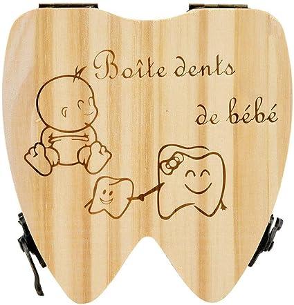 boite /à dents Organiseur pour b/éb/é bois Sunnymi enfants les dents de lait Bo/îte de rangement