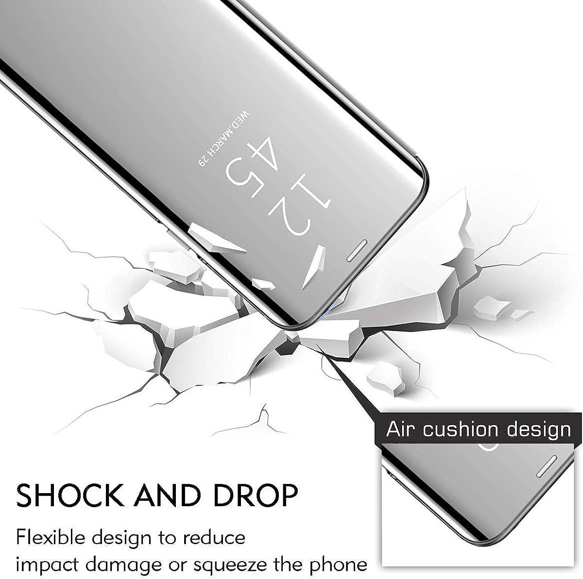 H/ülle Kompatibel mit Huawei P smart 2019 Handyh/ülle,Spiegel PU Leder Flip H/ülle Clear View Mirror St/änder Cover 360 Grad Schutz PC Schutzh/ülle f/ür Huawei P smart Plus 2019