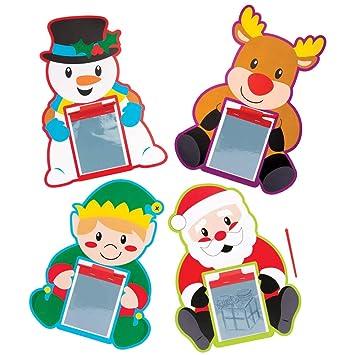 Baker Ross Pizarras mágicas navideñas (Pack de 8) para ...