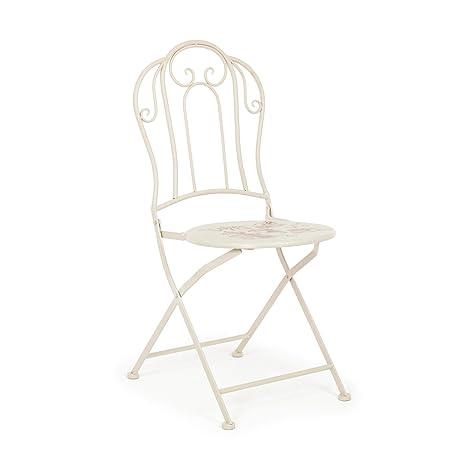 ARREDinITALY - Juego de 2 sillas Plegables Retro de Metal ...