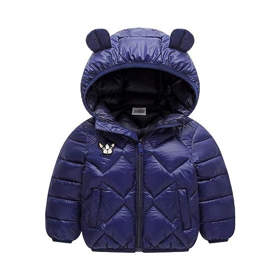 Minizone Kinder Daunenjacke mit Kapuze Winter Mäntel Jungen Madchen Schneeanzüge Outfits