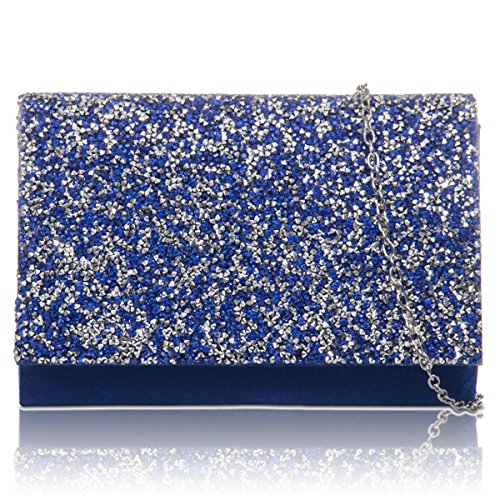 Bridesmaid Blue London Women Gems Royal Wedding Xardi Bags Clutch Evening Ladies New Satin Bridal Prom UZqzn