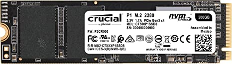 Amazon.com: Crucial P1 3D NAND NVMe PCIe M.2 SSD: Computers ...