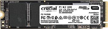 Amazon Com Crucial P1 500gb 3d Nand Nvme Pcie M 2 Ssd Ct500p1ssd8