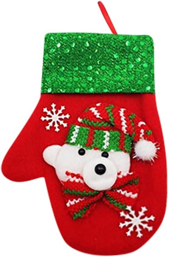 LLguz Christmas Glove Tableware Storage Bag,Xmas Flatware Fork Cloth Pouch Pocket Storage Organizer Container Holder for Dinner Kitchen Decoration Gift C Snowman