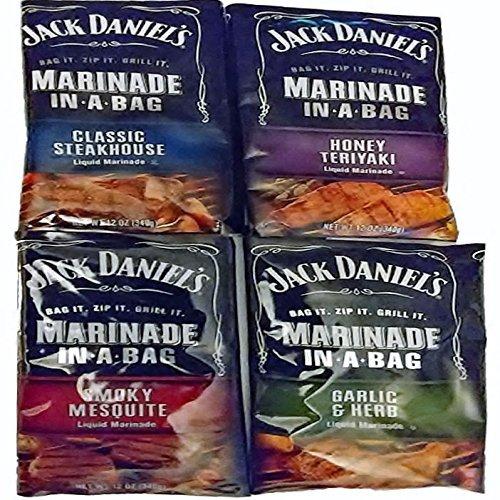 JACK DANIEL'S Marinade In-A-Bag 4 Flavor Variety Pack (Bu...