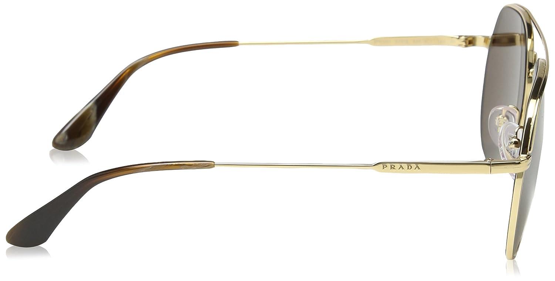 Goldbrown es 57 Ropa de Gafas Ray Ban Men's sol 55us 0pr Amazon qRH4W0