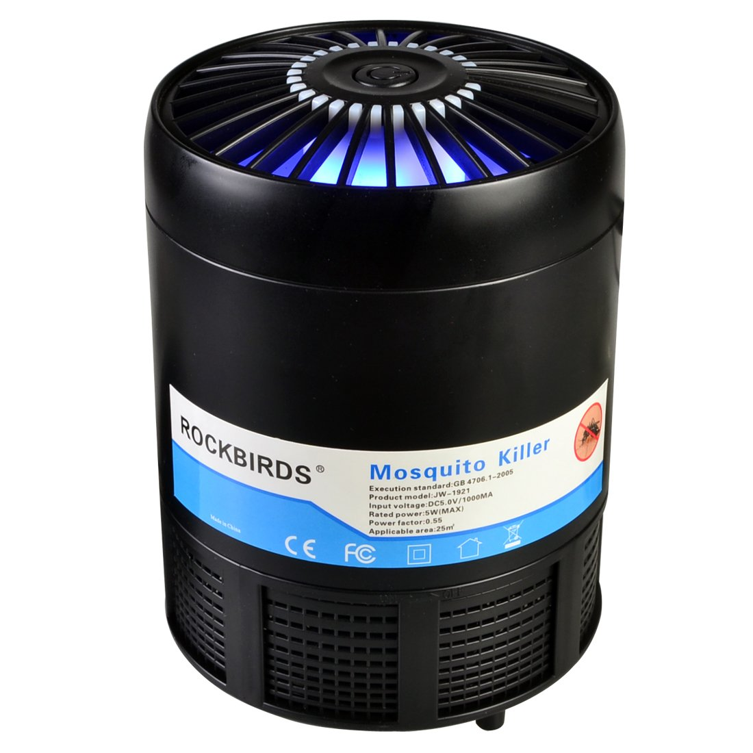 RockBirds Mosquito Trap,USB Powered Fly Zapper,Non-toxic UV LED Insect Killer,Safe and Effective Indoor Electronic Mosquito Light Trap Lamp for Kids and Babies.