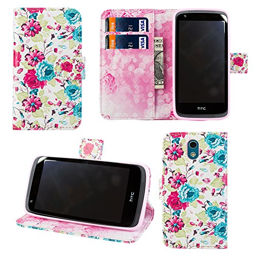 luxca-htc-desire-526-wallet-case-with-tempered-glass-screen-protector-design-dual-use-flip-pu-leathe