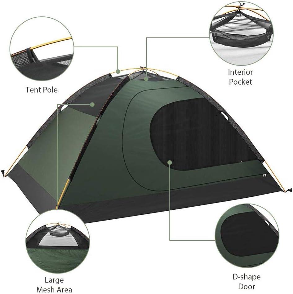 CATRP Marca 2 Personas Carpa para Camping 4 Estaciones Impermeable Tienda De La B/óveda para Exteriores Mochilero Alpinismo
