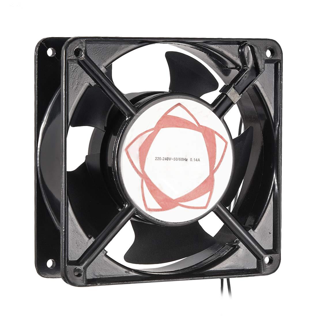 uxcell Cooling Fan 120mm x 120mm x 38mm DT200A AC 220-240V 0.14A Long Life Sleeve Bearings