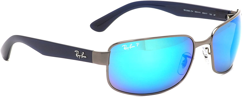 【Ray-Ban国内正規品販売認定店】RB3566CH 004/A1 65サイズ Ray-Ban (レイバン) サングラス CHROMANCE クロマンス Polarized ポラライズド 偏光レンズ ブルーミラー メンズ レディースの画像