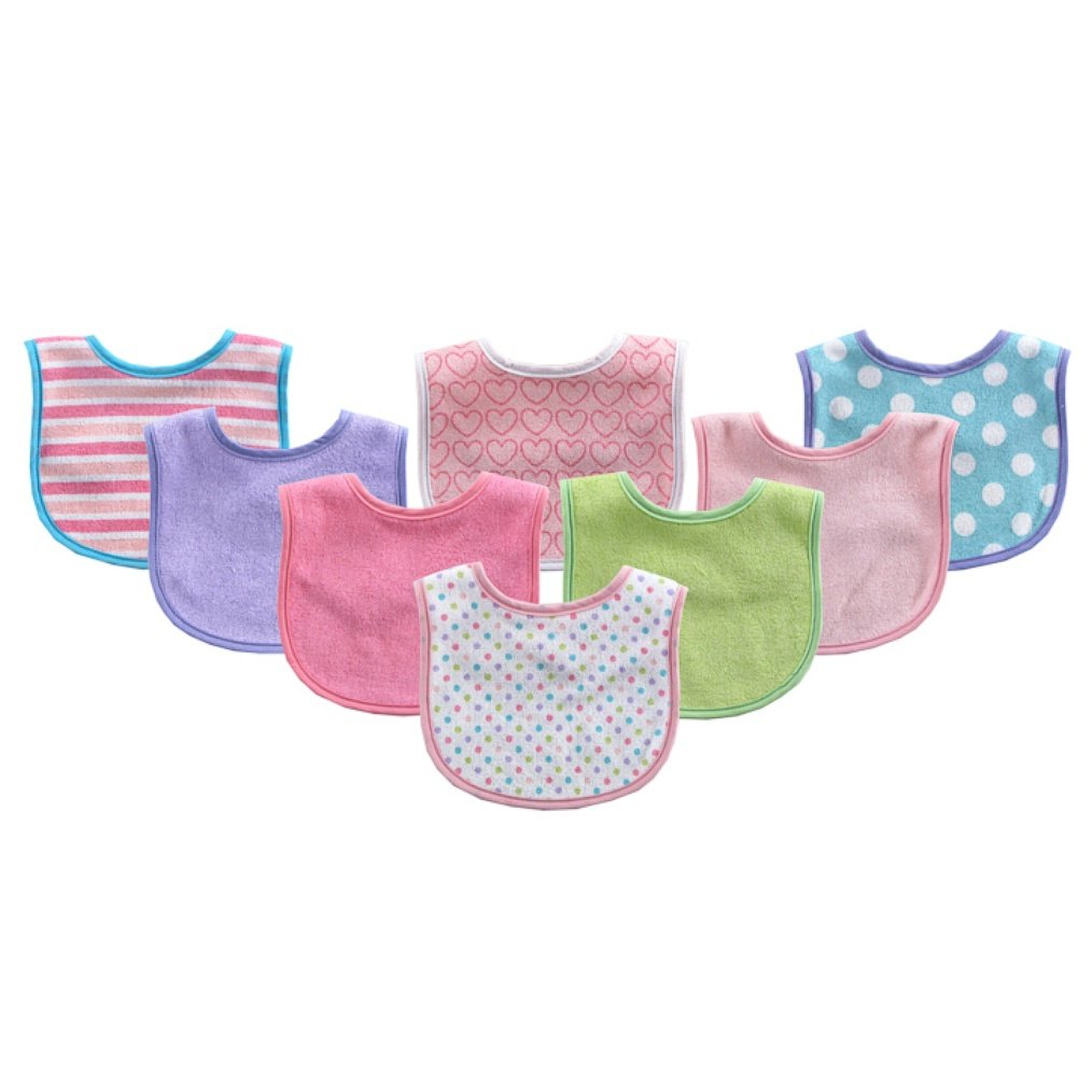 Colors May Vary Luvable Friends 10-Piece Baby Bibs,