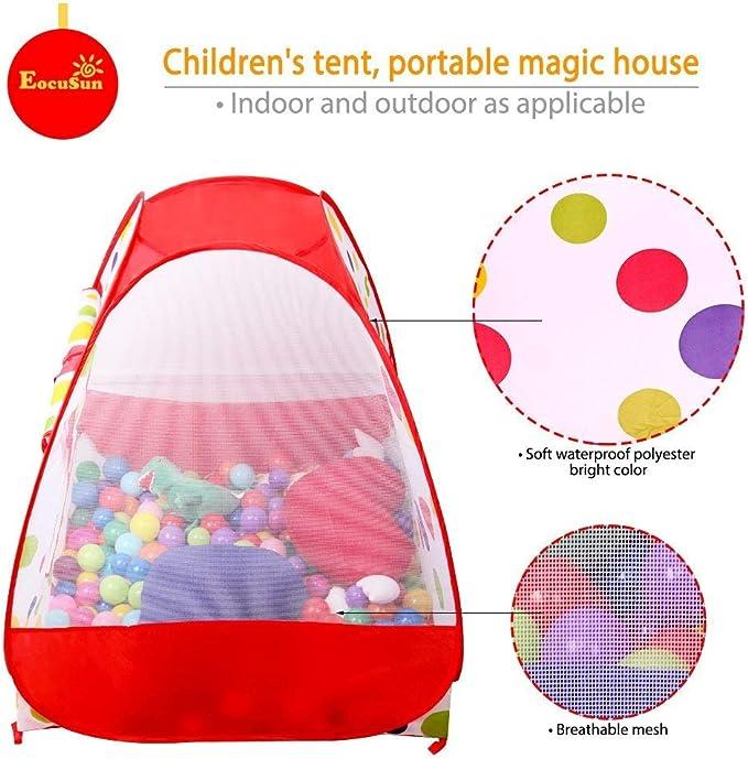 Pop up tent de joux for enfanf bebe house 6 with 100 balls écoutes