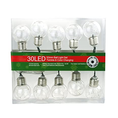 homeford christmas light bulbs fairy string lights 10 bulbs multi color