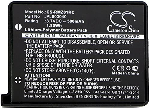 Turret Gaming Mouse Turret CameronSino Replacement Battery Compatible with Razer Wireless Mouse RZ01-0133 RZ84-01330100