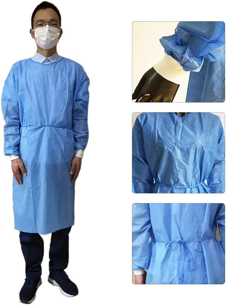 staubdichter Schutzanzug xl Blau universal 10 St/ück Vlies Gemini/_mall 1//10er-Pack Einweg-Isolationsmantel mit Manschettenverschluss
