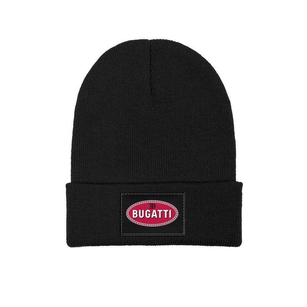 Beanie Skull Hats Mens Womens Knitting Beanie Hats Soft FineAcrylic Winter Warm Bugatti-Logo