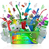 Slime Kit Slime Supplies [47 Pieces] - Science Kits Diy Slime Stuff - Slime Kit for Girls Makes Floam Fluffy Slime Clear Slime Butter Slime DIY Crunchy Slime Making Kit Slime Containers