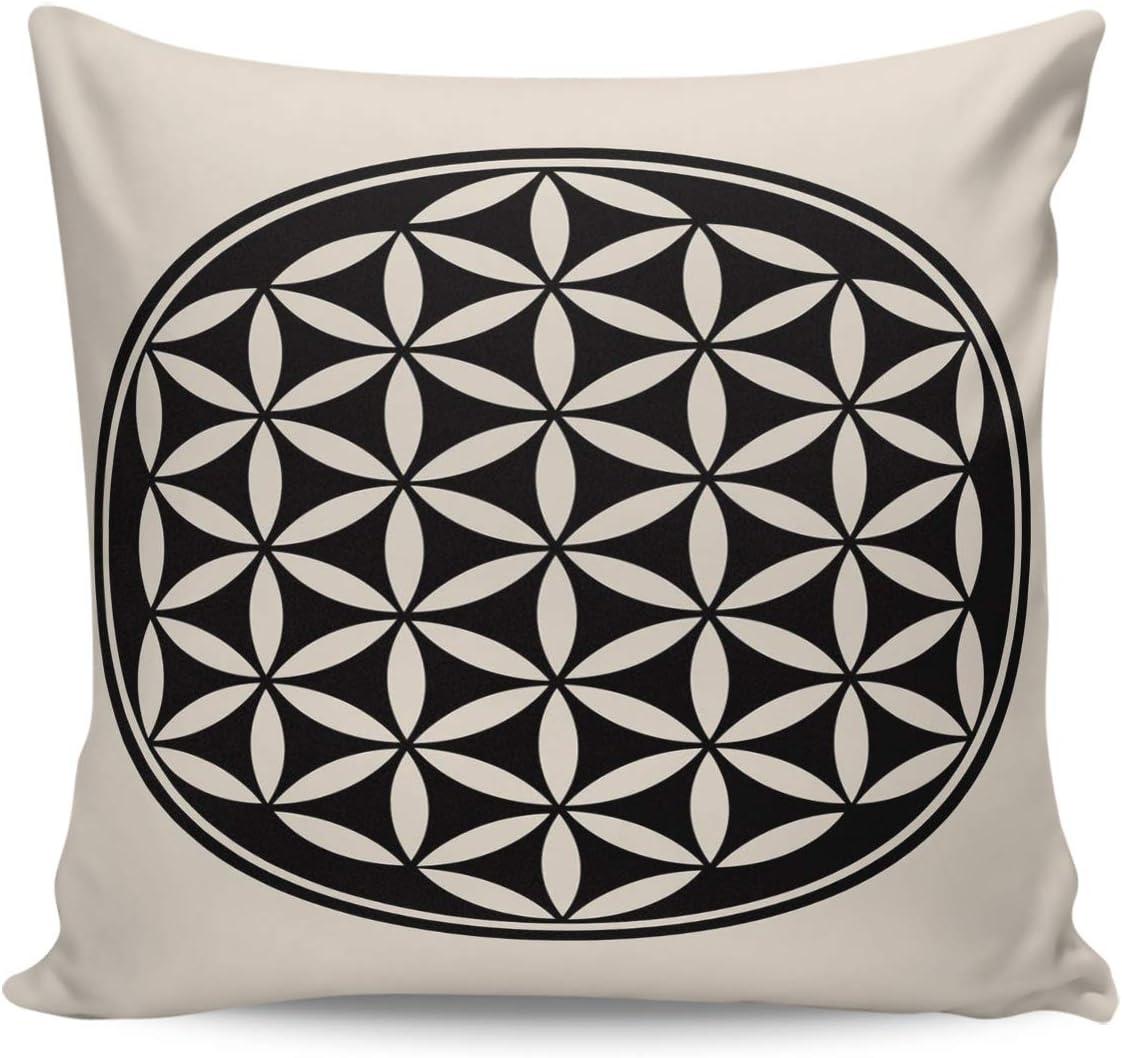 Floral Gray Cushion Cover Pillow Square Case Home Decor Sofa Living Room Decor