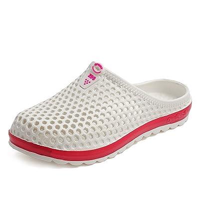 4f08a477cb8b7e CCZZ Hommes Femmes Sabots Respirant Chaussures de Jardin D'Été Plage  Sandales Amants Pantoufles