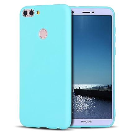 SpiritSun Funda Huawei P Smart, Soft TPU Silicona Handy Candy Carcasa Funda para Huawei P Smart/Huawei Enjoy 7S Suave Silicona Piel Carcasa Ultra ...