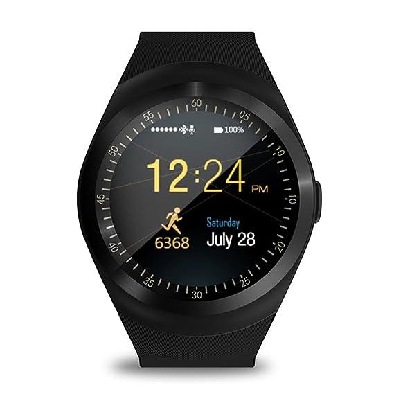 Amazon.com: Reloj inteligente Bluetooth con pantalla táctil ...