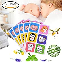 Mosquito Repellent Patch Natural Plants Stickers Keeps Insects Bugs Far Away Safe for Baby Kids Adults Pets Home Outdoors Non-Toxic Deet-Free 120Pcs/Set