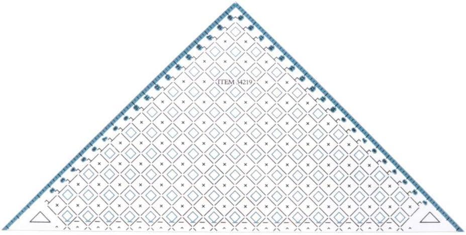 35x15.5 Cm Regla de Sastre Triangular IPOTCH Regla de Acolchado//Patchwork//Costura de Acr/ílico Plantilla de Acolchado de Acr/ílico