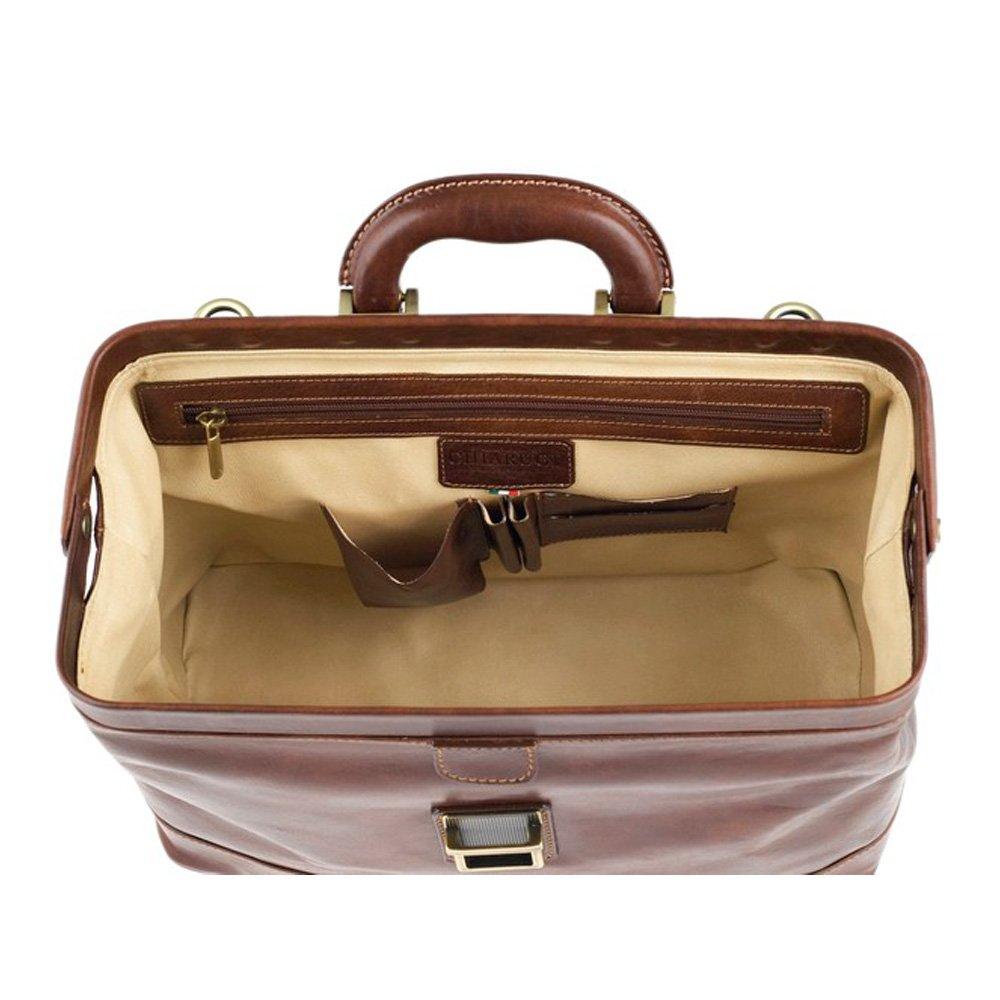 Le sac de Chiarugi italienne médecin en cuir (tan) zBdOR0Sd