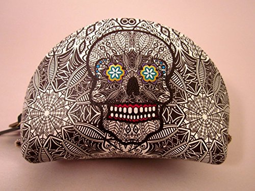 Indigo Desert Ranch - Day of the Dead Coin Purse - Leather Catrina Blk/wht