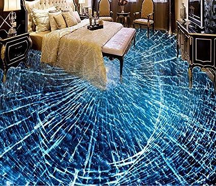 Lwcx 3d Flooring Pvc Mural Custom Wallpaper Broken Glass Photo