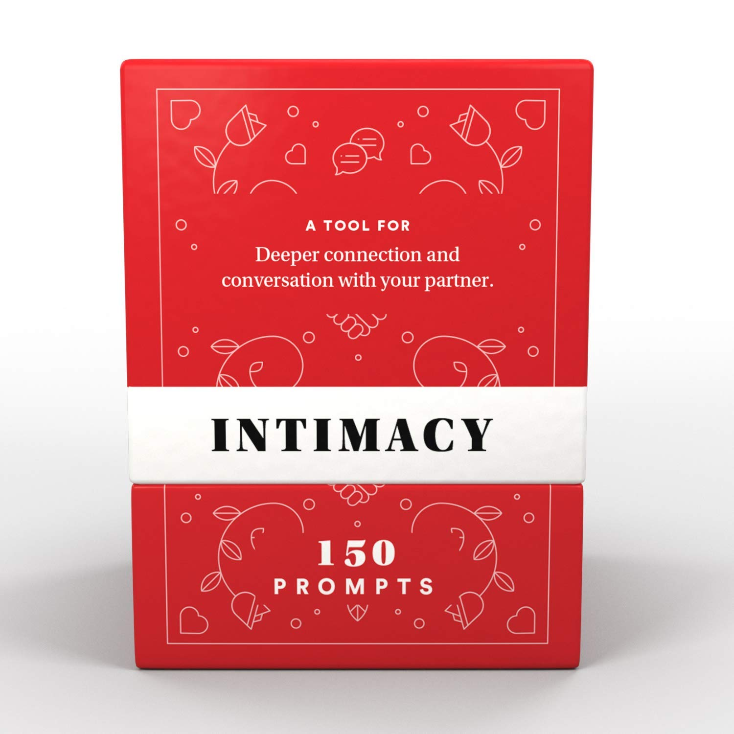 Intimacy Deck by BestSelf - 150 Engaging Conversation Starters for Couples to Strengthen Their Relationship, Romance, Trust, Openness and Vulnerability - Best Couple Card Game for Romantic Gift by BestSelf Co.