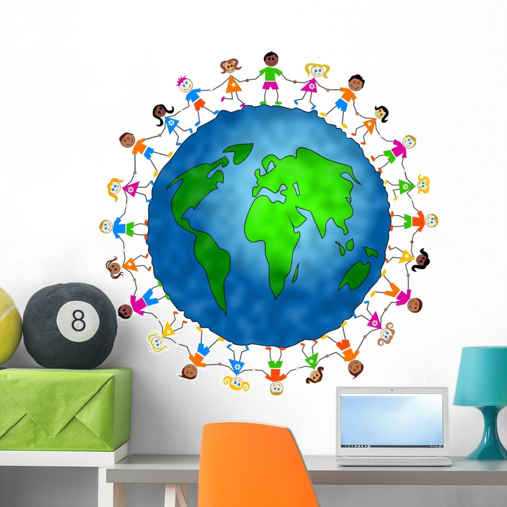 Wallmonkeys Global Kids Wall Decal Peel and Stick Graphic WM32388 (36 in H x 36 in W)