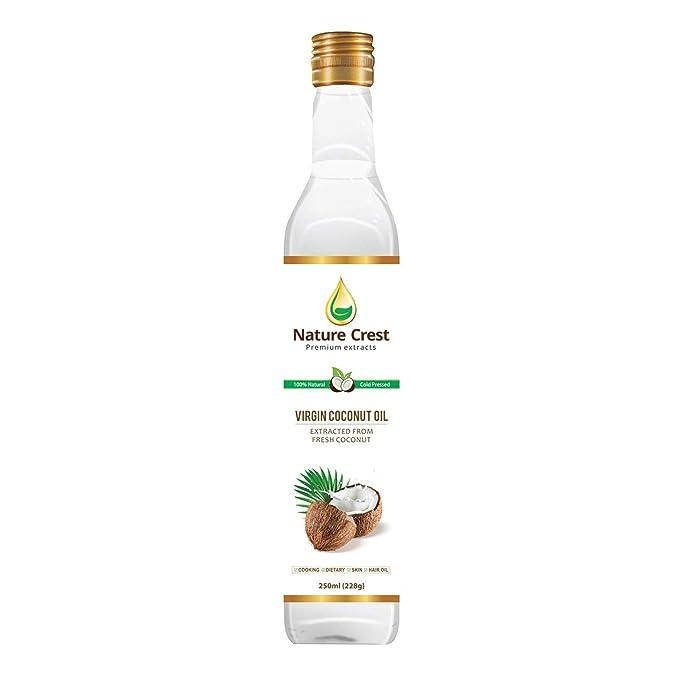 Nature Crest 100% Cold Pressed Virgin Coconut Oil - 250 ml