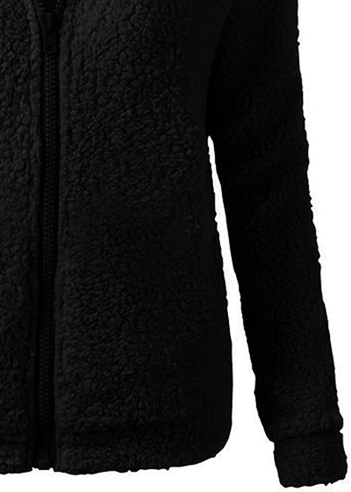 MORCHAN Femmes Pull /à Capuche Manteau dhiver Chaud Laine Zipper Outwear Manteau Manteau de Coton