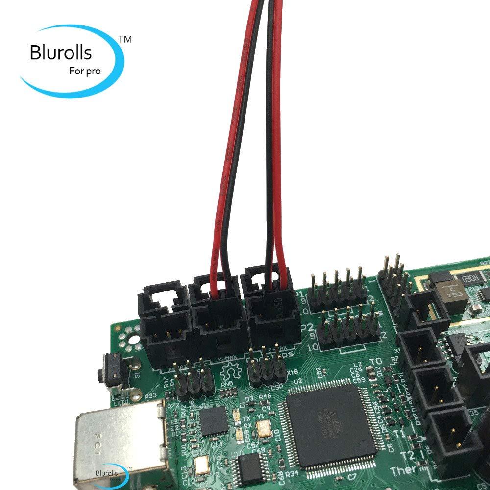 Zamtac 2pcs Reprap Prusa i3 mk2 mk2s mk3 3D Printer endstop Limit switches compatiable with Mini-Rambo Board